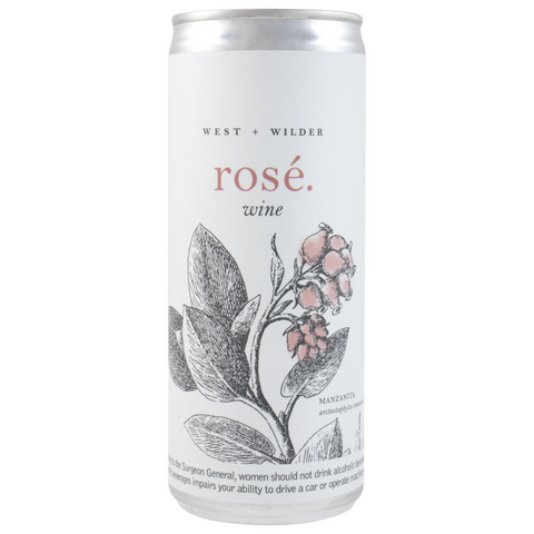 West and Wilder Rose 3pk Can