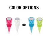 True Cone Silicone Bottle Stoppers (Set of 2)