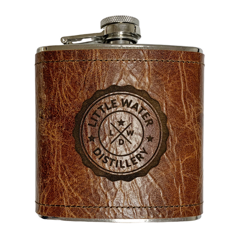 Little Water Distillery Leather Flask