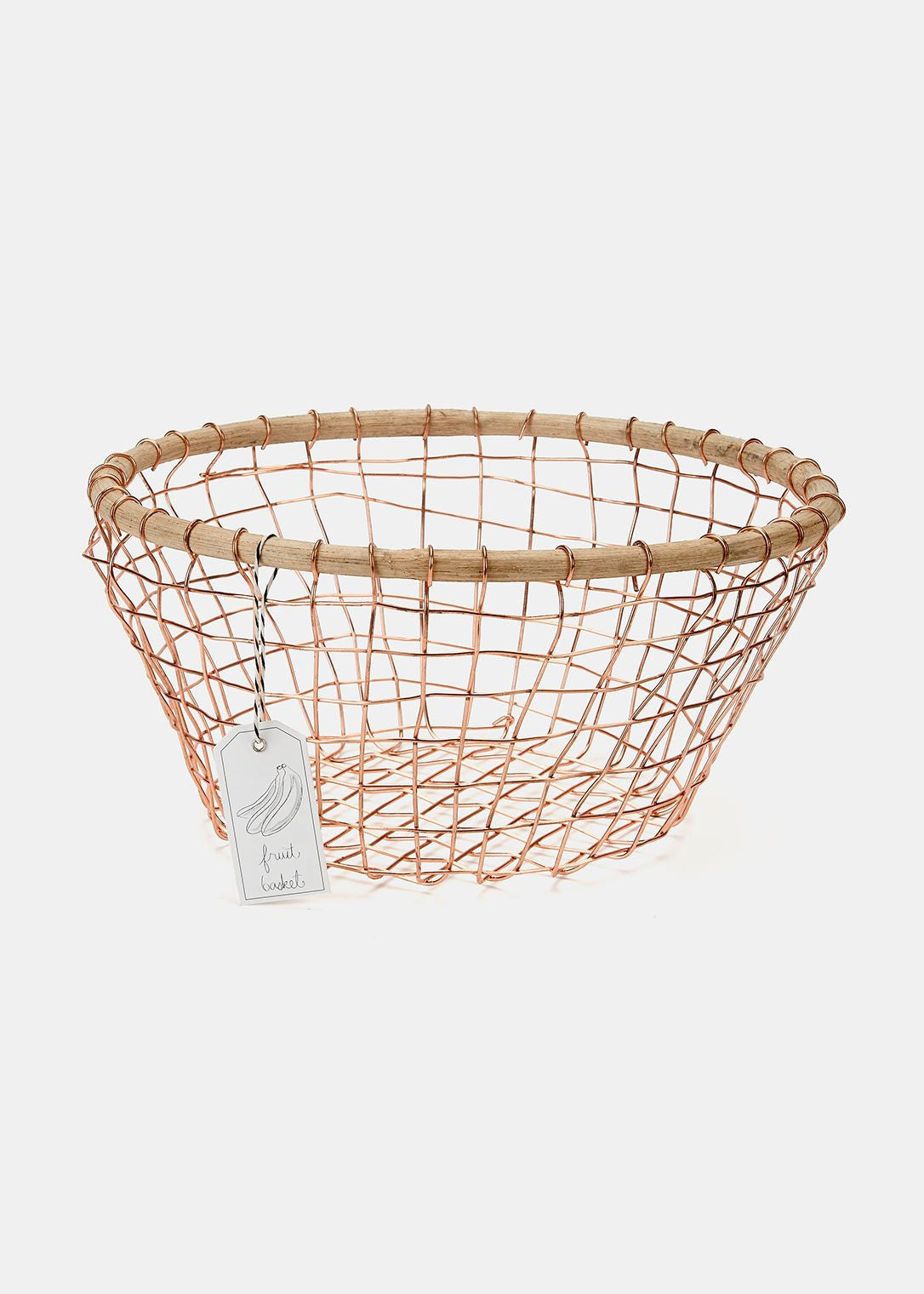 Be Home Copper Round Basket