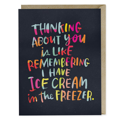 Ice Cream Freezer Love Greeting Card