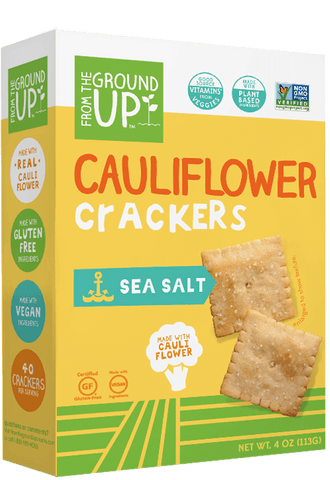 From the Ground Up Cauliflower Crackers - Sea Salt
