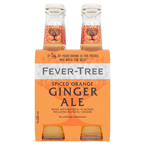 Fever Tree Spiced Orange Ginger Ale 4pk