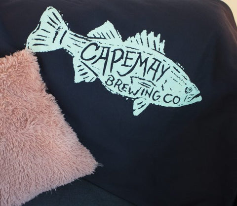 CAPE MAY BREWING FISH THROW BLANKET