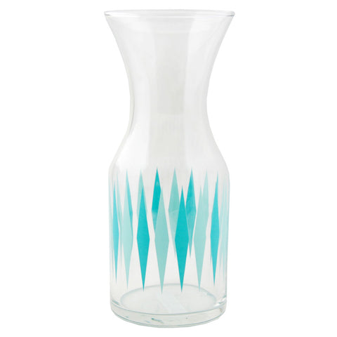 Fishs Eddy Blue Diamond Party Glass Decanter