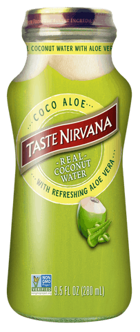 Taste Nirvana Coco Aloe 10oz Glass Bottle