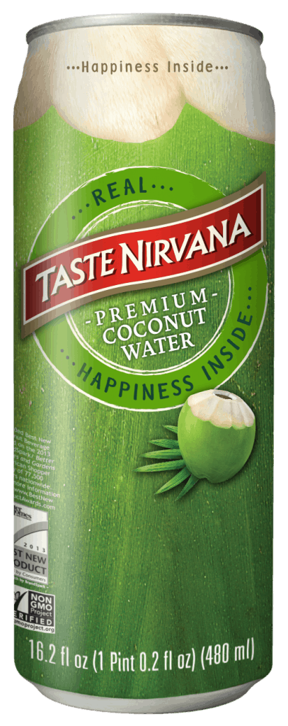 Taste Nirvana Coconut Water 16oz Can