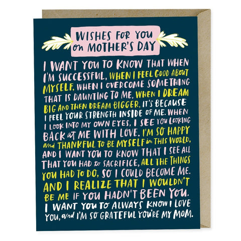 Emily McDowell Wishes For  Your Mother's Day Card