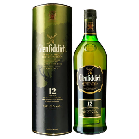 Glenfiddich Single Malt Scotch Whiskey 12 Yr