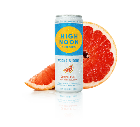 High Noon Vodka & Soda Grapefruit - 4pk cans