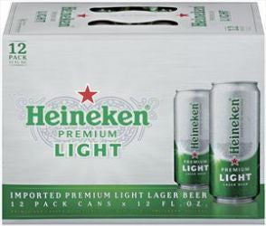 Heineken Light Can 12 Pk