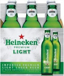 Heineken Light 6 Pk Bottles