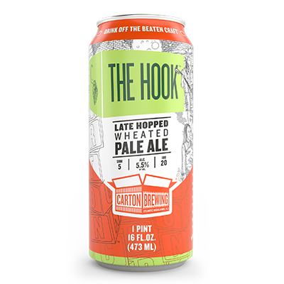 Carton Brewing The Hook Late Hopped Pale Ale 4pk Cans