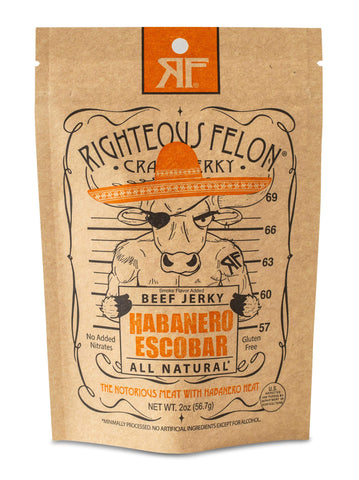 Righteous Felon Jerky Habanero Escobar 2oz