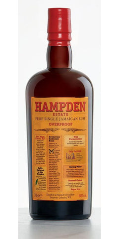 Hampden Estate Overproof Pure Single Jamaican Rum 120 Proof