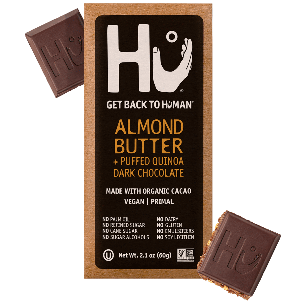 HU Vanilla Almond Butter and Puffed Quinoa Dark Chocolate