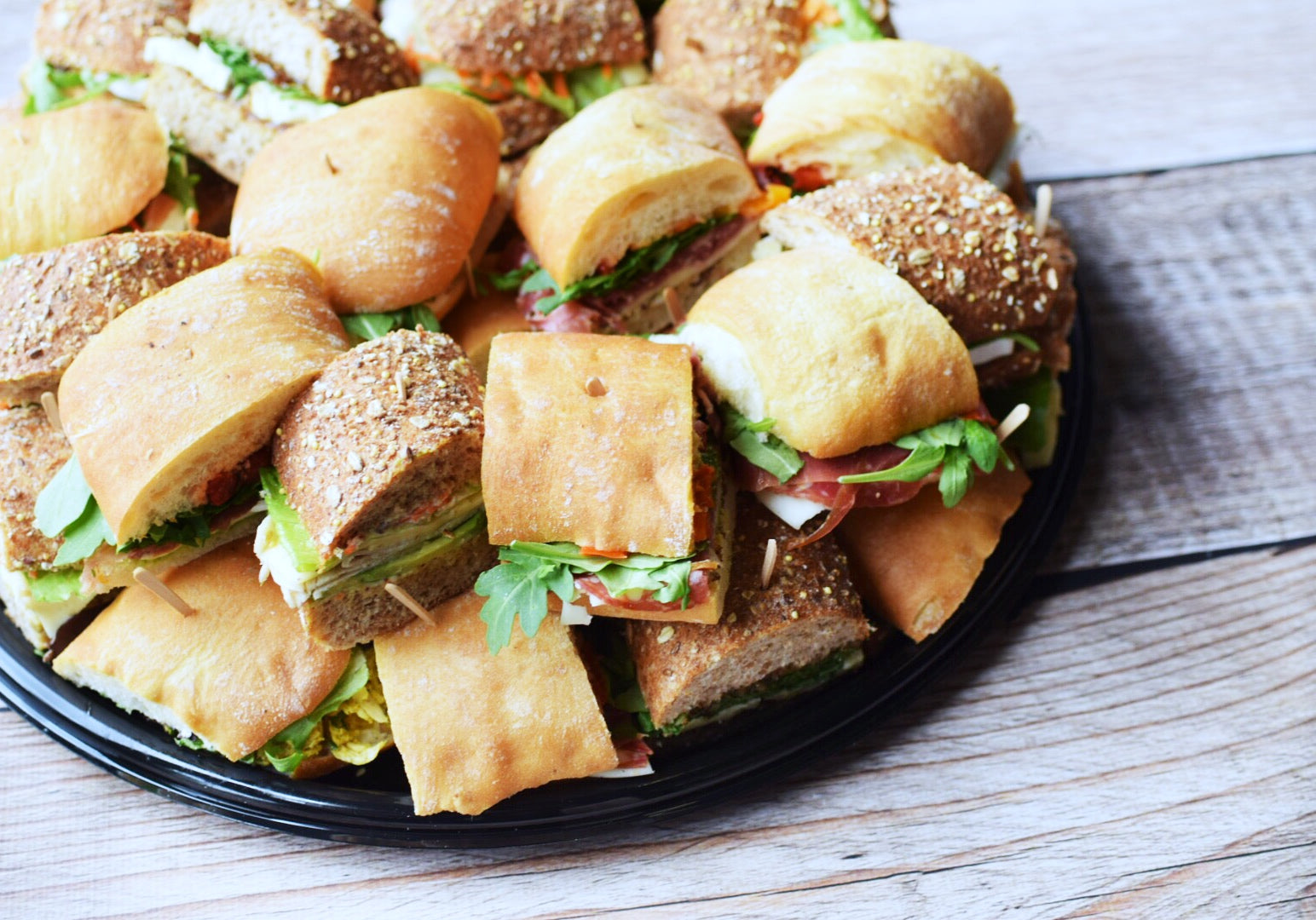 Gourmet Sandwich Tray Catering White Horse Wine And Spirits