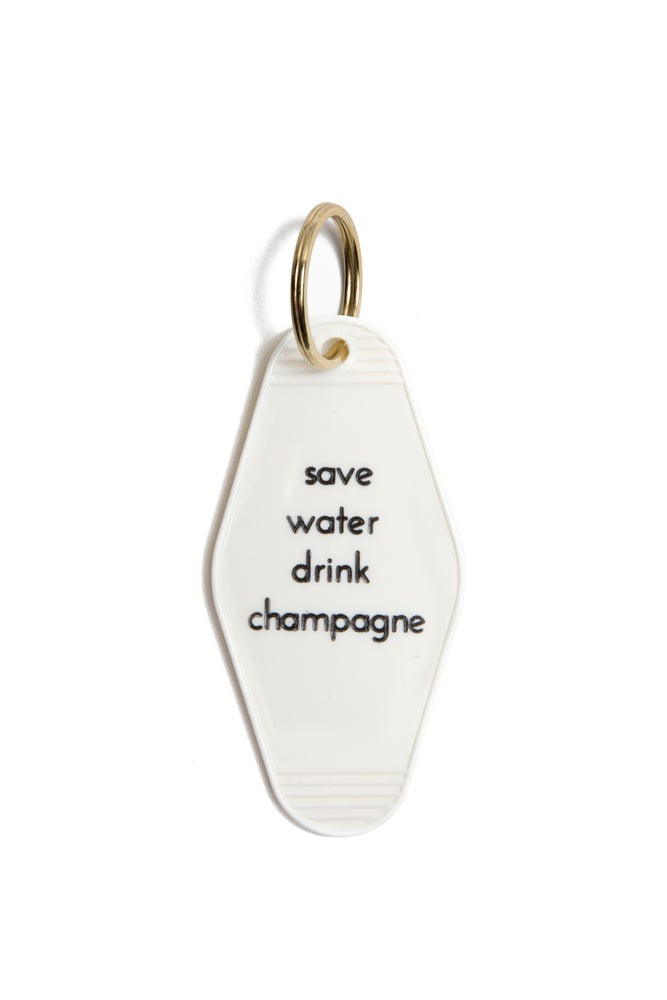 "He Said She Said ""Save Water Drink Champagne"" Keytag"