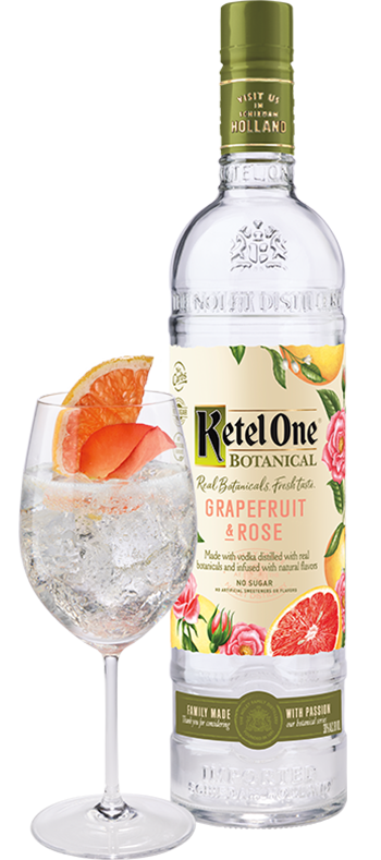 Ketel One Vodka Botanicals Grapefruit and Rose