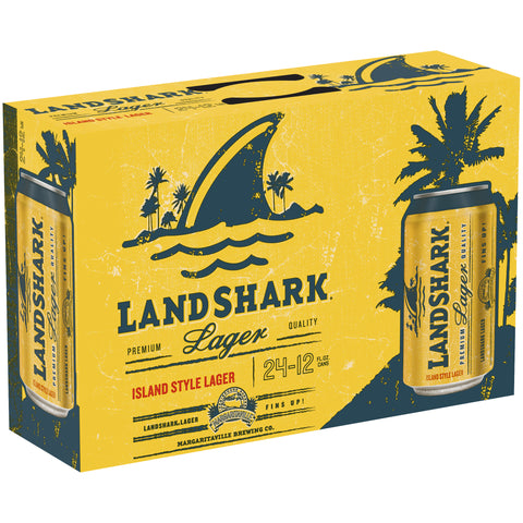 Landshark Island Style Lager Beer 24pk - 12oz Cans