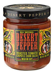 Desert Pepper Roasted Tomato Chipotle Corn Salsa