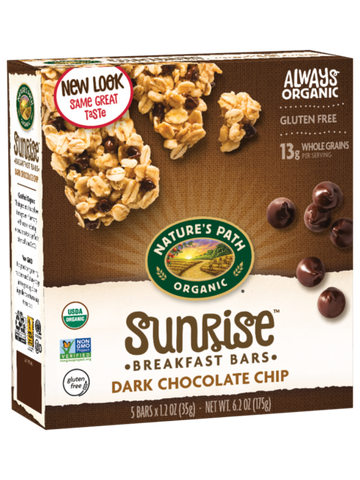 Nature's Path Sunrise Dark Chocolate Chip Chewy Granola Bars