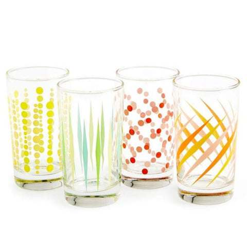 Fishs Eddy Party Glasses (Set of 4)