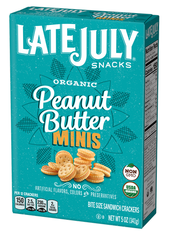 Late July Mini Peanut Butter Sandwich Crackers