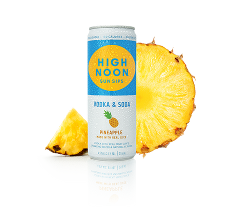 High Noon Vodka & Soda Pineapple - 4pk cans
