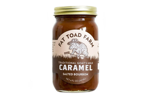 Fat Toad Farms Salted Bourbon Caramel - The Classic Jar (8oz)