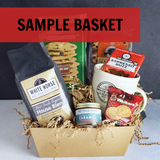 Custom Gift Basket - Kraft Pinstripe Market Tray, Small