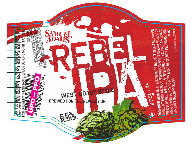 Sam Adams Rebel Ipa 6 Pk