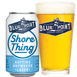 Blue Point Shore Thing Lager - 18pk cans