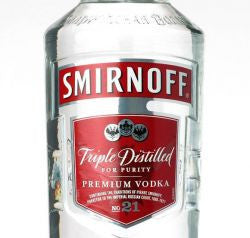 Smirnoff Vodka 80 Proof Glass