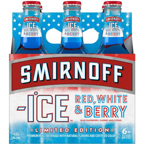 Smirnoff Ice Red White and Berry 6pk