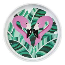 SunnyLife Tropical Flamingo Drink Tray