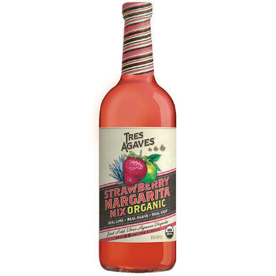 Tres Agaves Organic Strawberry Margarita Mix 1ltr White Horse Wine And Spirits