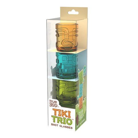 True Tiki Trio Shot Glasses 3Pk