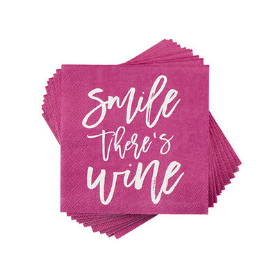 True Smile Theres Wine Napkin
