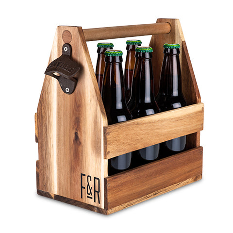 True Wooden Beer Caddy