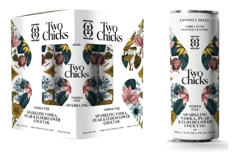 Two Chicks Vodka Fizz - 4pk Cans