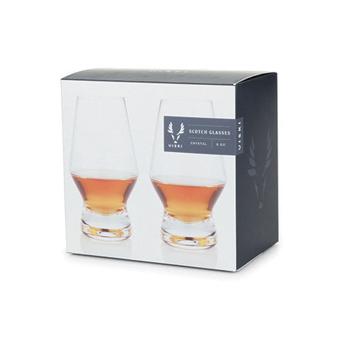Viski Crystal Scotch Glass Set Of 2