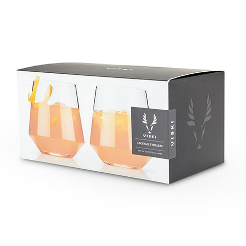 Viski Crystal Cocktail Tumblers (Set of 2)