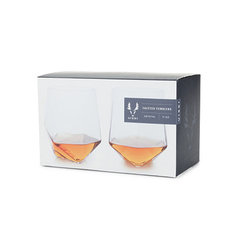 Viski Faceted Tumblers 2 Pack