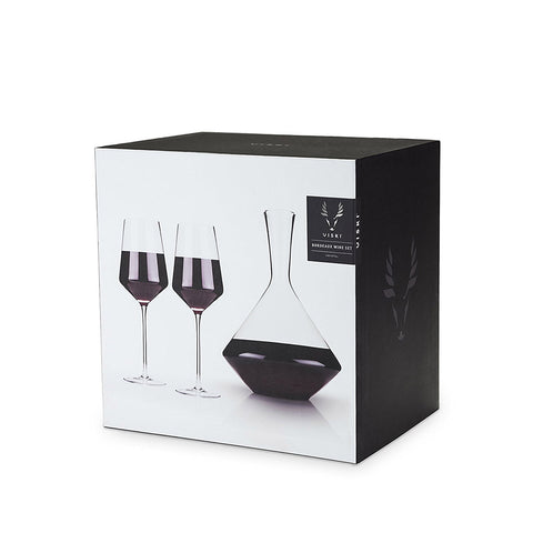 Viski Raye Bordeaux Glasses Gift Set of 3
