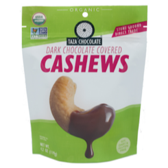 Taza Organic Chocolate Covered Cashews