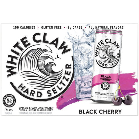 White Claw Hard Seltzer Black Cherry 12pk Cans