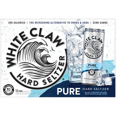 White Claw Hard Seltzer Pure 12pk Can