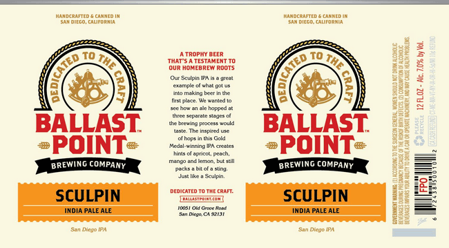 Ballast Point Sculpin Ipa 6Pk