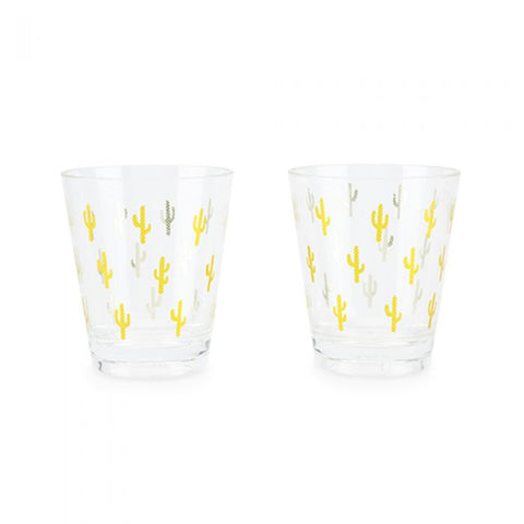 Gold Cactus Acrylic Cup Set by Blush